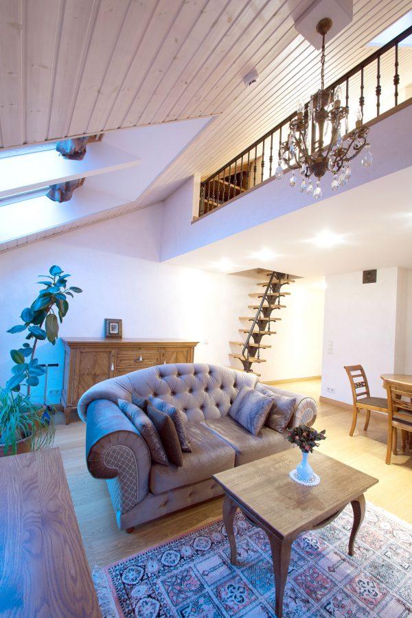 Apartment with attic